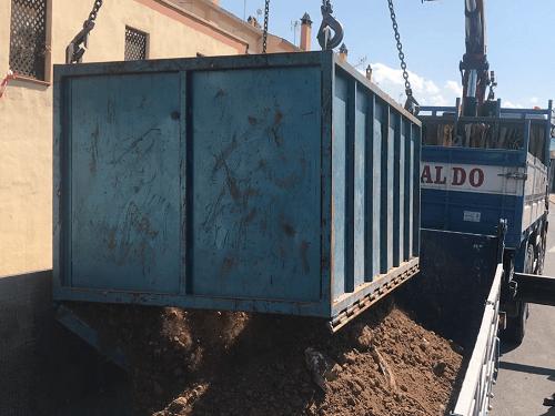 contenedor de obras